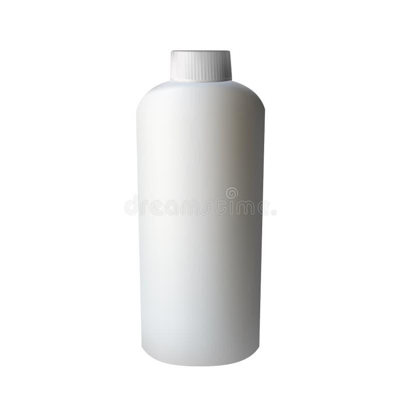 Άσπρο πλαστικό μπουκάλι απεικόνιση αποθεμάτων