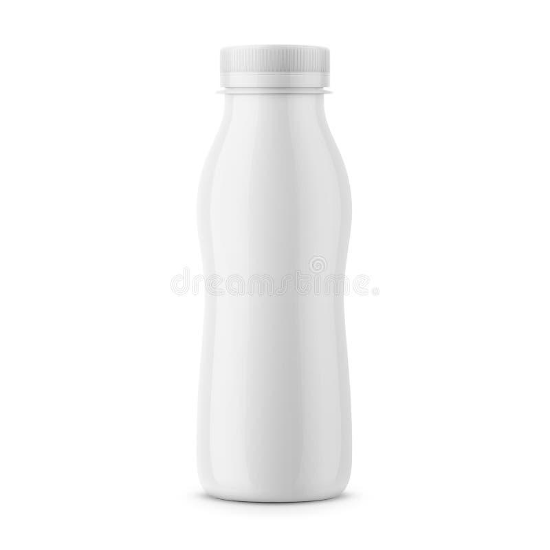 Άσπρο πρότυπο μπουκαλιών γάλακτος ελεύθερη απεικόνιση δικαιώματος