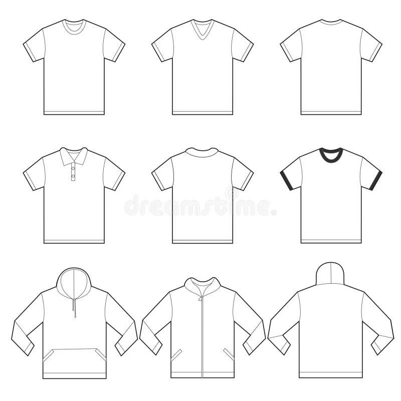 Άσπρο πρότυπο πουκάμισων ελεύθερη απεικόνιση δικαιώματος