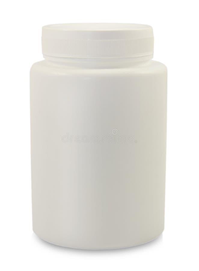 Άσπρο πλαστικό εμπορευματοκιβώτιο μπουκαλιών στοκ φωτογραφία με δικαίωμα ελεύθερης χρήσης