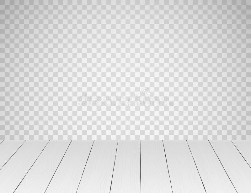 Άσπρο ρεαλιστικό ξύλινο επιτραπέζια κορυφή ή πάτωμα απεικόνιση αποθεμάτων
