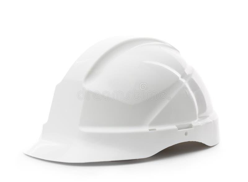 Άσπρο σκληρό καπέλο στοκ εικόνες