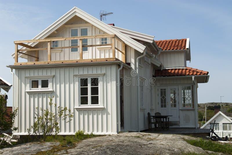 Άσπρο σπίτι στοκ φωτογραφίες με δικαίωμα ελεύθερης χρήσης