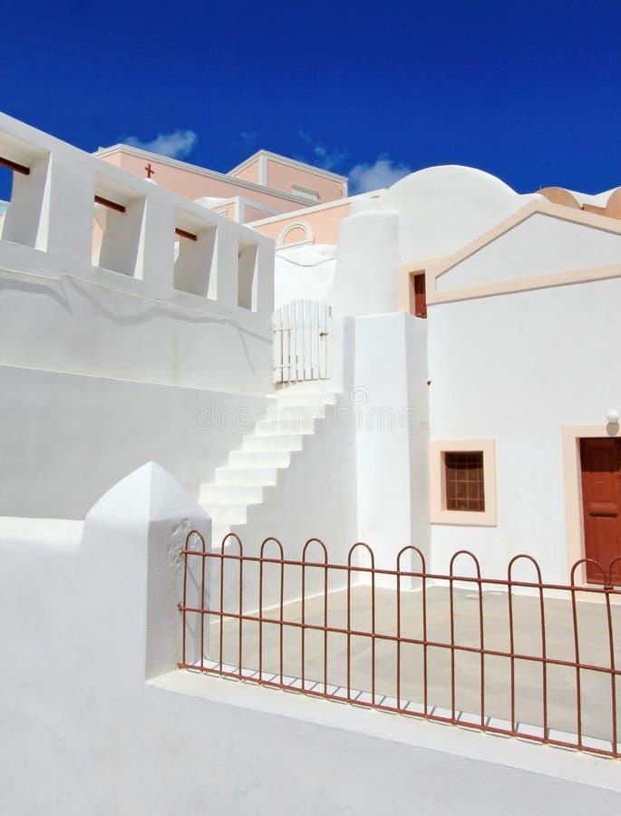 Άσπρο σπίτι, Santorini, Ελλάδα στοκ εικόνες