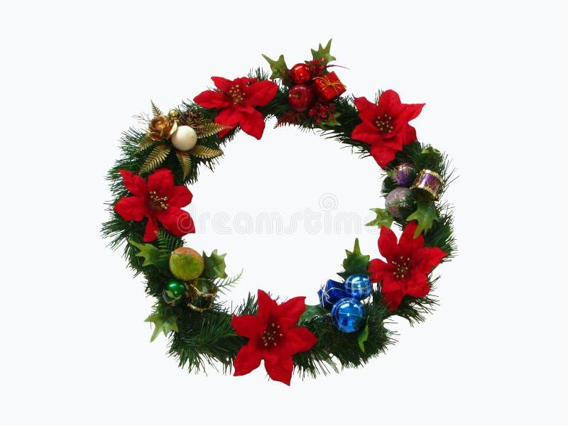 άσπρο στεφάνι Χριστουγέννων ανασκόπησης στοκ εικόνα με δικαίωμα ελεύθερης χρήσης