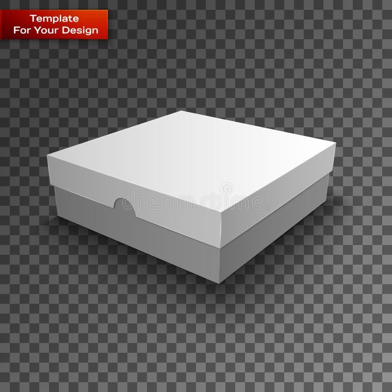 Άσπρο σχέδιο κιβωτίων συσκευασίας ελεύθερη απεικόνιση δικαιώματος