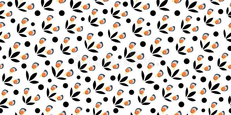 Άσπρο σχέδιο με τη μαύρη διακόσμηση ελεύθερη απεικόνιση δικαιώματος