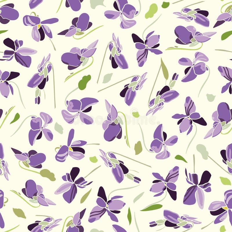 Άσπρο σχέδιο με το viola απεικόνιση αποθεμάτων