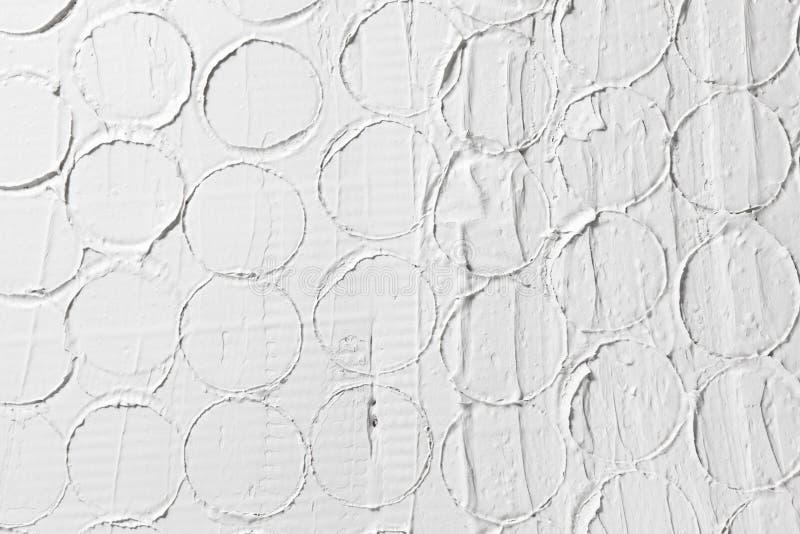 Άσπρο σχέδιο ανακούφισης, υπόβαθρο σύστασης ασβεστοκονιάματος στοκ φωτογραφία με δικαίωμα ελεύθερης χρήσης