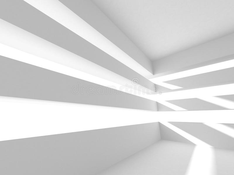 Άσπρο σύγχρονο εσωτερικό υπόβαθρο κατασκευής αρχιτεκτονικής διανυσματική απεικόνιση