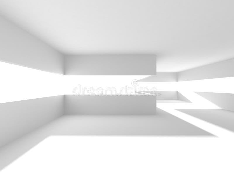 Άσπρο σύγχρονο εσωτερικό υπόβαθρο κατασκευής αρχιτεκτονικής απεικόνιση αποθεμάτων