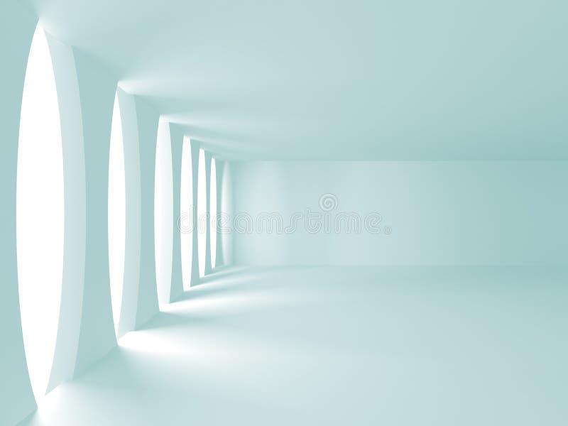 Άσπρο σύγχρονο εσωτερικό υπόβαθρο κατασκευής αρχιτεκτονικής ελεύθερη απεικόνιση δικαιώματος