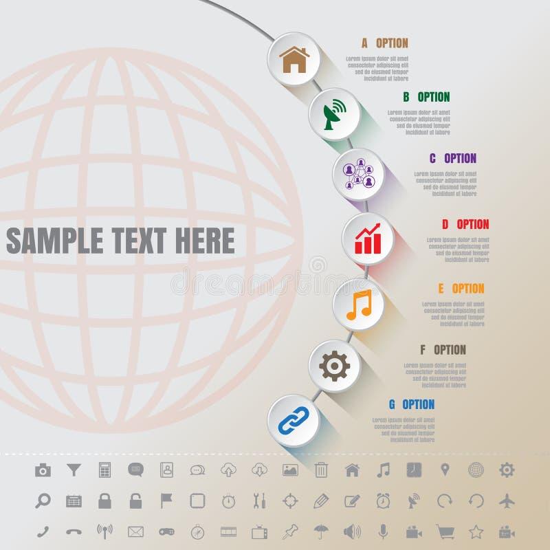Άσπρο σύγχρονο πρότυπο χρονικών γραμμών συμπληρώματος Infographic απεικόνιση αποθεμάτων