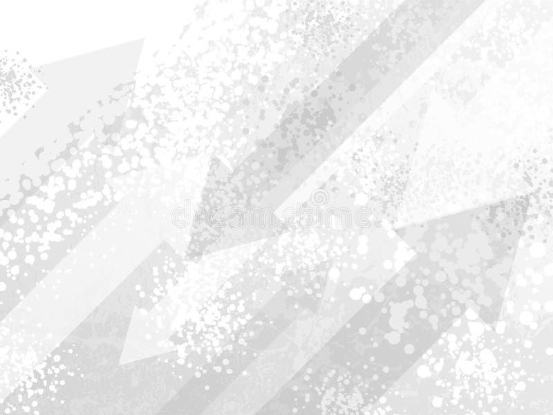 Άσπρο σύγχρονο υπόβαθρο ημίτονων Grunge επισημασμένο κινούμενα σχέδια Ο κίνδυνος έβλαψε τη διαγώνια βελών σύσταση ψεκασμού χρωμάτ απεικόνιση αποθεμάτων