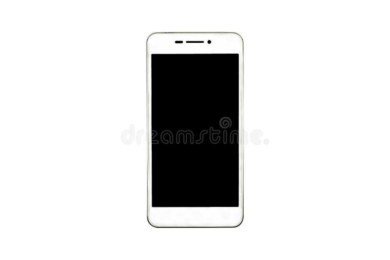 Άσπρο σύγχρονο smartphone που απομονώνεται στο άσπρο υπόβαθρο στοκ εικόνες
