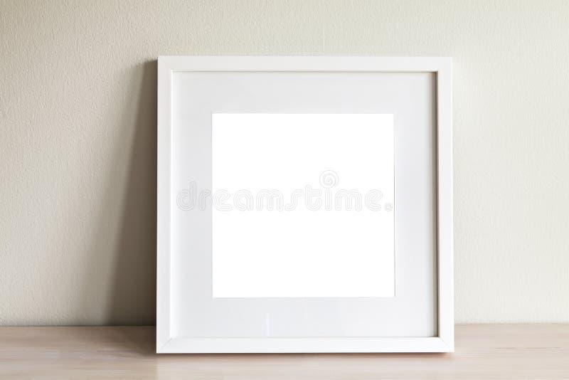 Άσπρο τετραγωνικό πρότυπο πλαισίων στοκ φωτογραφία με δικαίωμα ελεύθερης χρήσης
