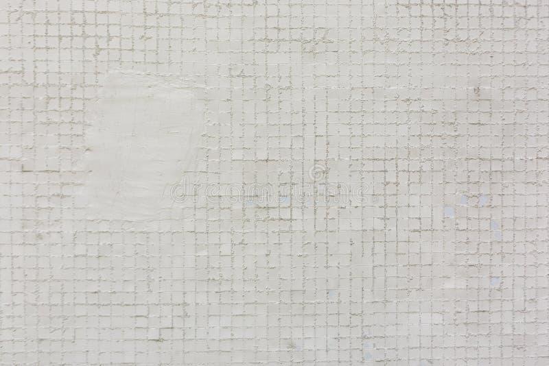 Άσπρο τετραγωνικό υπόβαθρο σύστασης σχεδίων κεραμιδιών στοκ εικόνα με δικαίωμα ελεύθερης χρήσης