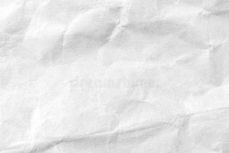 Άσπρο τσαλακωμένο υπόβαθρο σύστασης εγγράφου E στοκ εικόνες
