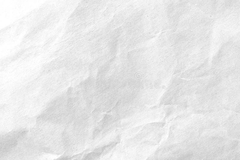 Άσπρο τσαλακωμένο υπόβαθρο σύστασης εγγράφου E στοκ εικόνες με δικαίωμα ελεύθερης χρήσης