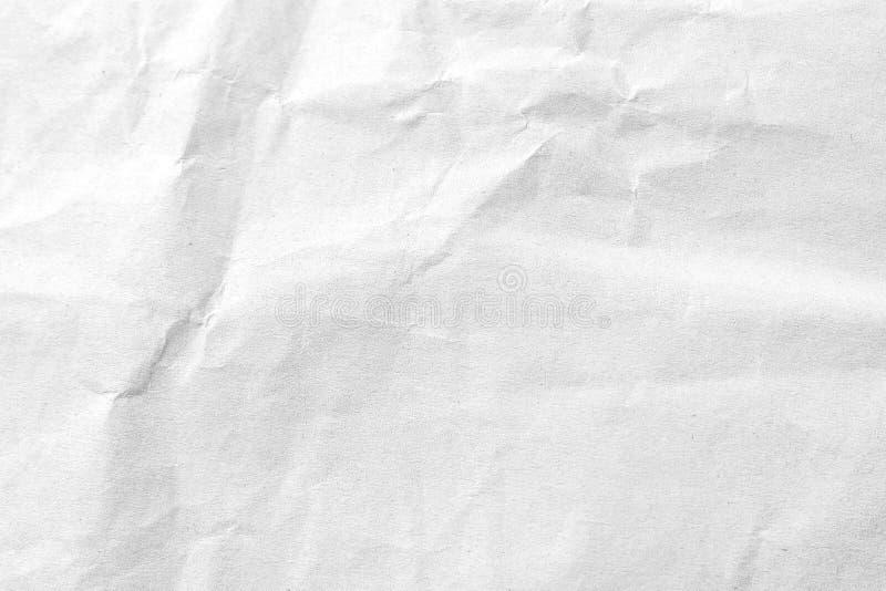 Άσπρο τσαλακωμένο υπόβαθρο σύστασης εγγράφου E στοκ φωτογραφίες