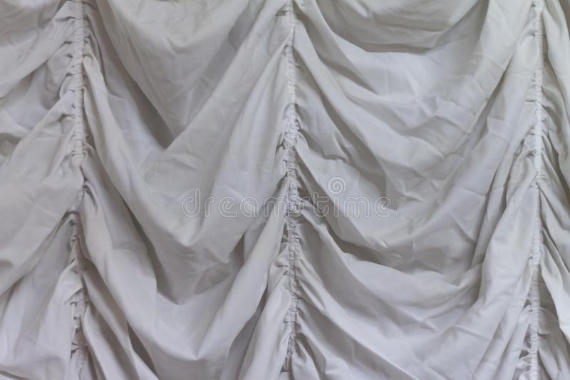 Άσπρο υπόβαθρο σύστασης υφάσματος, κυματιστό ύφασμα στοκ φωτογραφίες με δικαίωμα ελεύθερης χρήσης