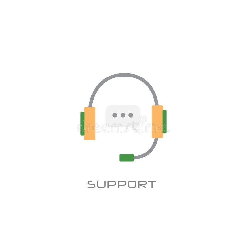Άσπρο υπόβαθρο ύφους γραμμών έννοιας υπηρεσίας υποστήριξης διαβούλευσης πελατών τηλεφωνικών κέντρων διανυσματική απεικόνιση
