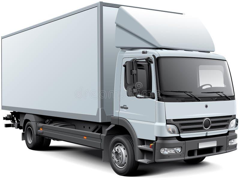 Άσπρο φορτηγό κιβωτίων διανυσματική απεικόνιση