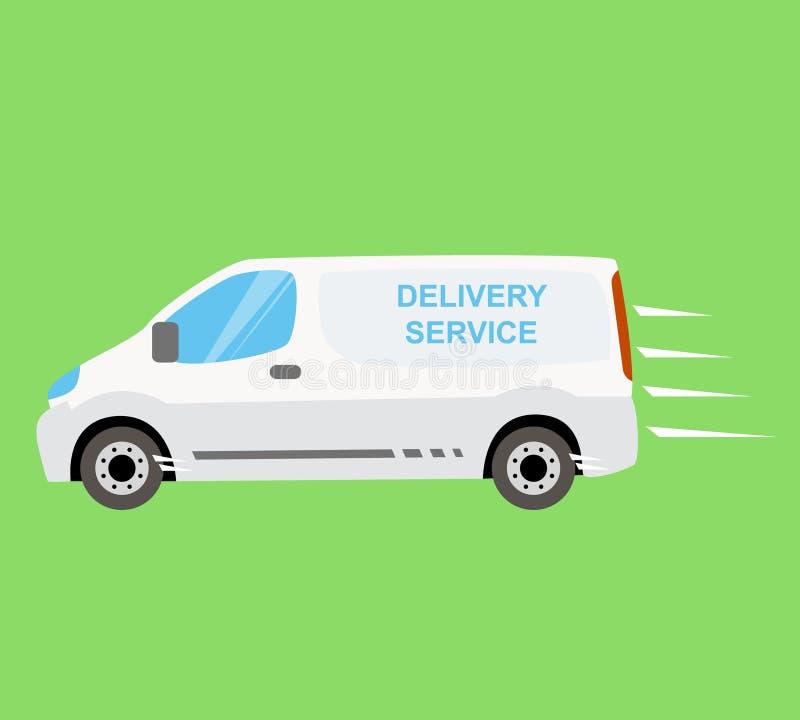 Άσπρο φορτηγό παράδοσης απεικόνιση αποθεμάτων