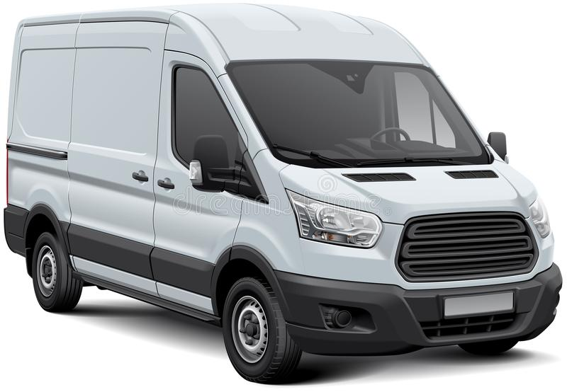Άσπρο φορτηγό φορτίου απεικόνιση αποθεμάτων