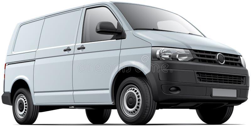 Άσπρο φορτηγό φορτίου διανυσματική απεικόνιση