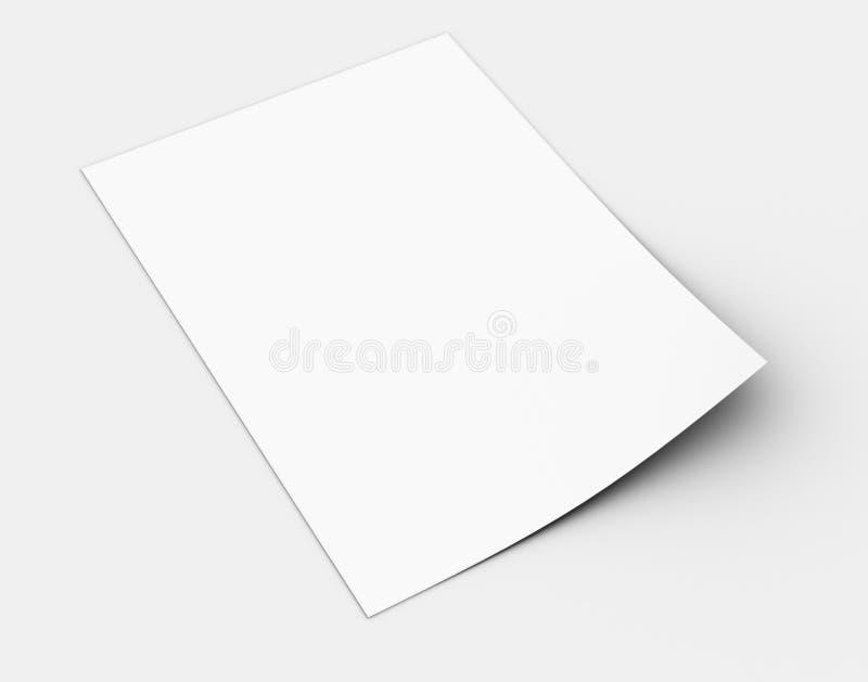 Άσπρο φύλλο του εγγράφου διανυσματική απεικόνιση