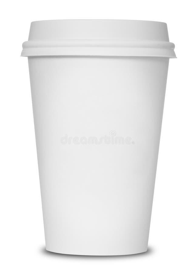 Άσπρο φλυτζάνι καφέ στοκ φωτογραφίες