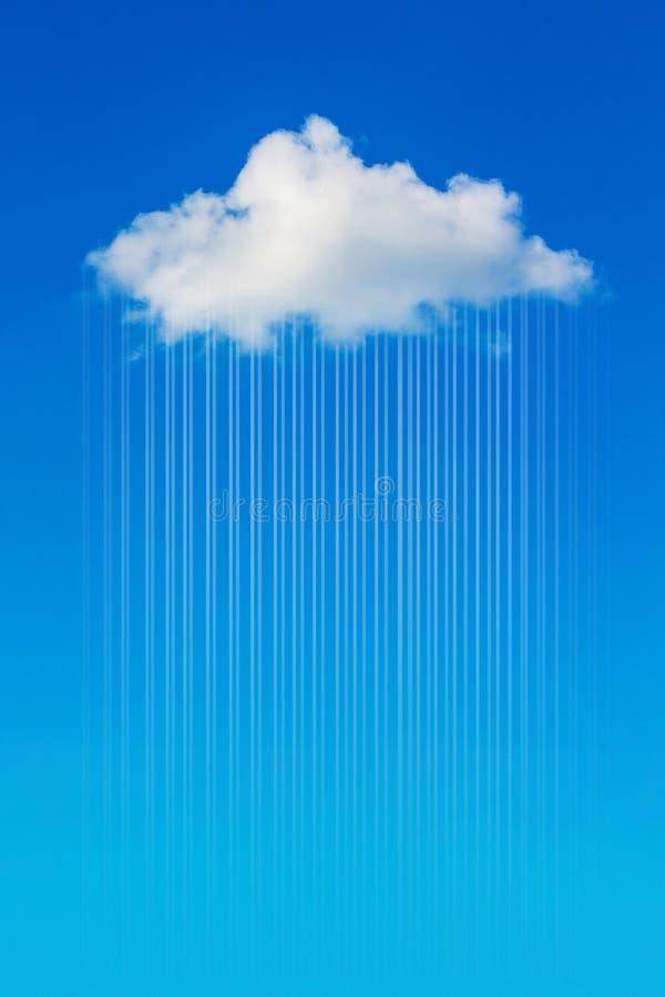 Άσπρο χνουδωτό σύννεφο σε έναν μπλε ουρανό, κάθετο format_ ελεύθερη απεικόνιση δικαιώματος