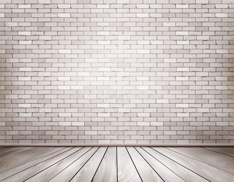 Άσπρο δωμάτιο τούβλου ελεύθερη απεικόνιση δικαιώματος