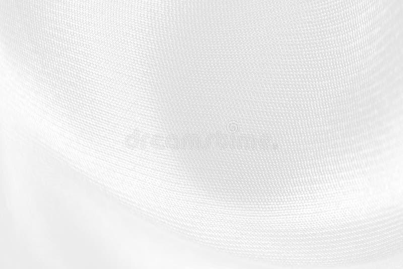 Άσπρο ύφασμα σατέν ως σχέδιο σύστασης υποβάθρου στοκ εικόνες