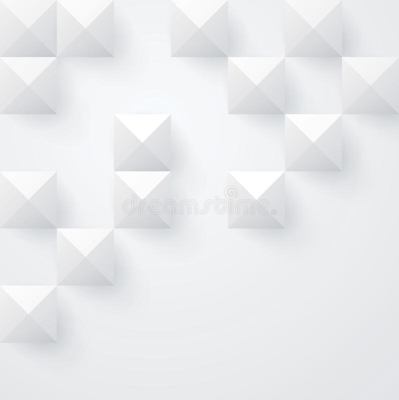 Άσπρο geometriy διανυσματικό υπόβαθρο. ελεύθερη απεικόνιση δικαιώματος