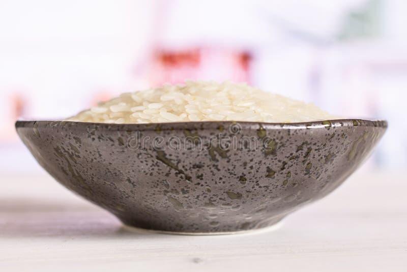 Άσπρο jasmine ρύζι με την κουζίνα πίσω στοκ φωτογραφίες με δικαίωμα ελεύθερης χρήσης