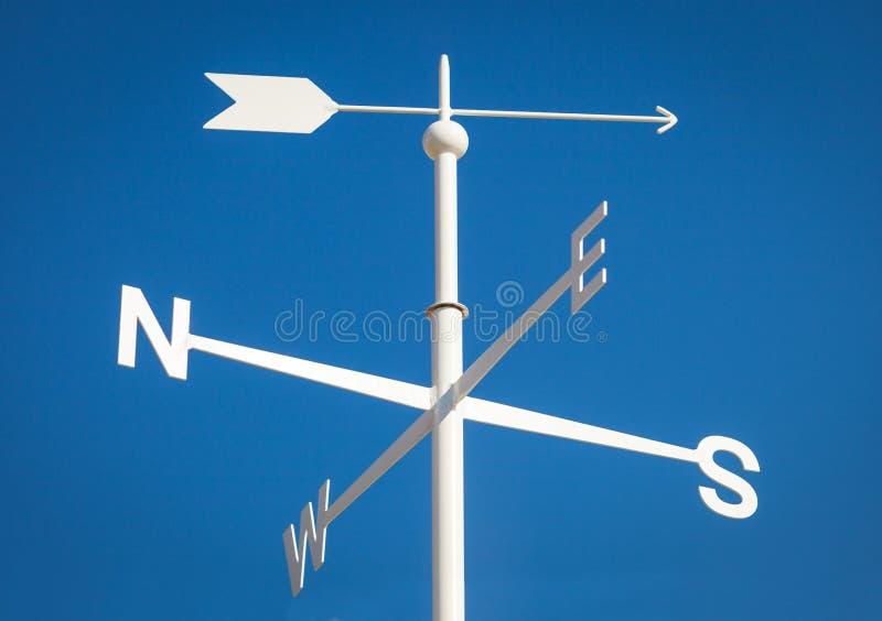 Άσπρο Weathervane στοκ φωτογραφία με δικαίωμα ελεύθερης χρήσης