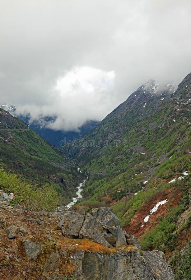 άσπρο yukon διαδρομών περασμάτων στοκ φωτογραφία με δικαίωμα ελεύθερης χρήσης