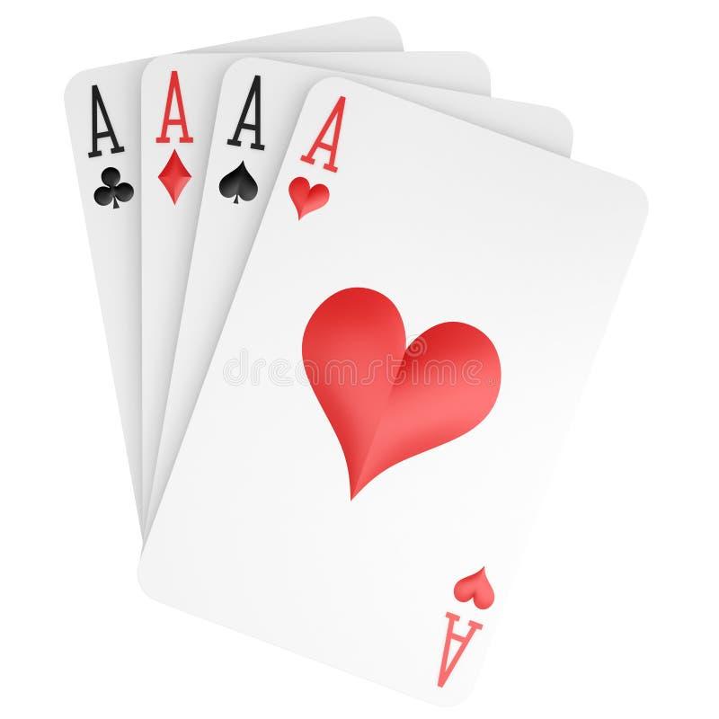 Download άσσοι τέσσερα απεικόνιση αποθεμάτων. εικονογραφία από πόκερ - 13180027