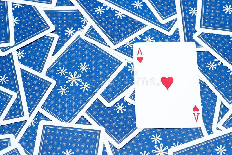 Άσσος καρτών παιχνιδιού της καρδιάς στοκ φωτογραφία