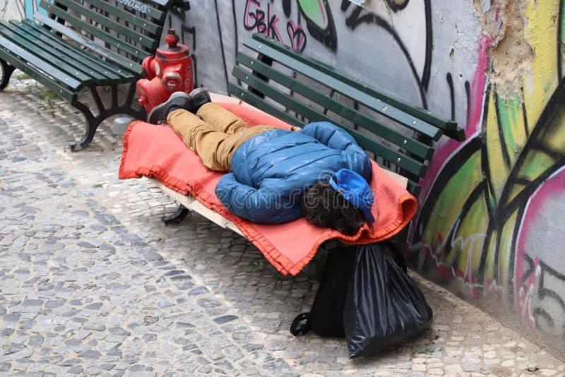 Άστεγοι στην Πορτογαλία στοκ εικόνα με δικαίωμα ελεύθερης χρήσης