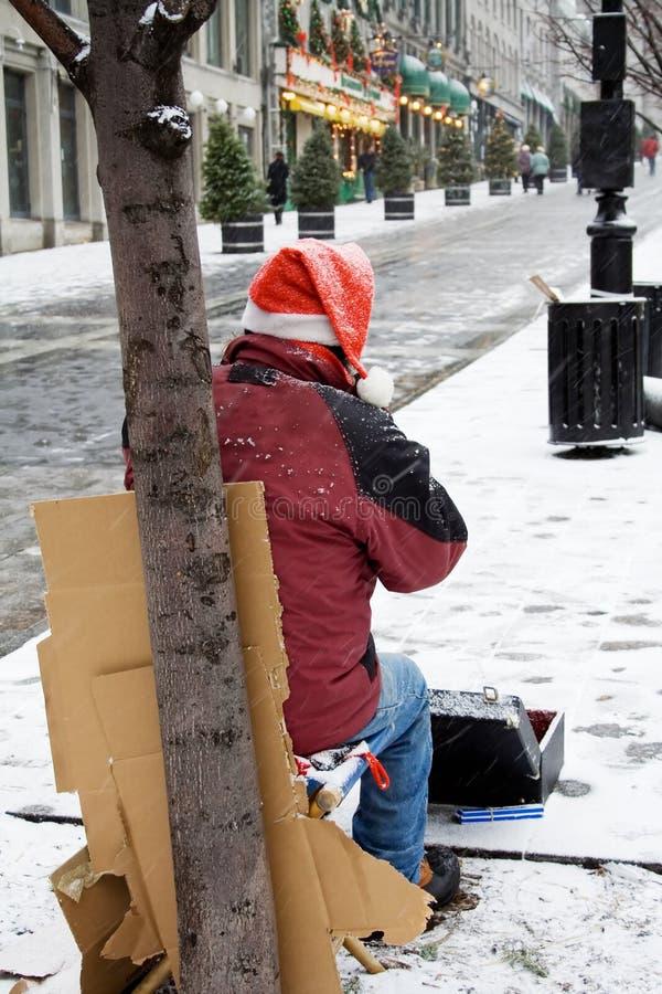 άστεγο άτομο στοκ φωτογραφία