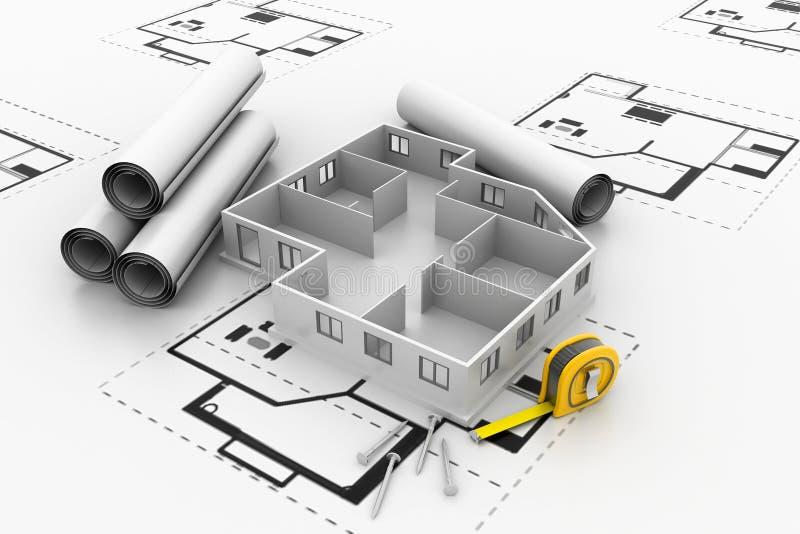 Άστεγο πρότυπο αρχιτεκτονικής διανυσματική απεικόνιση