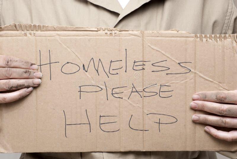 άστεγο σημάδι στοκ εικόνες με δικαίωμα ελεύθερης χρήσης