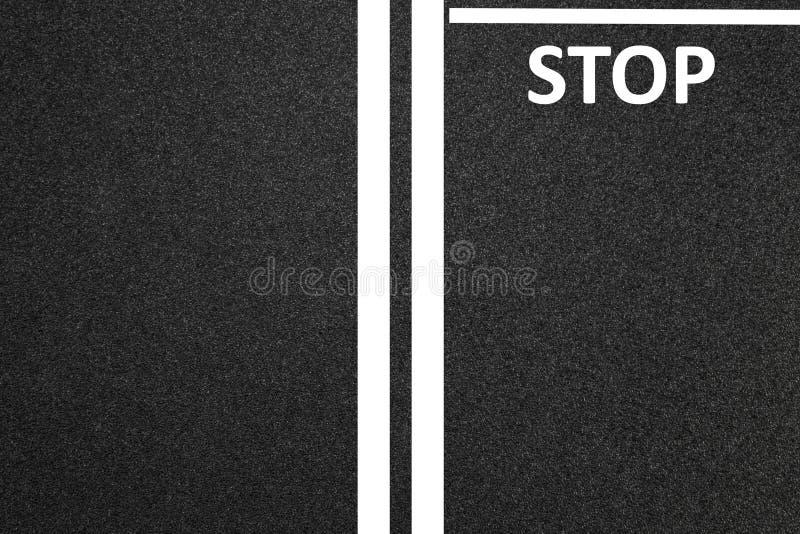 Άσφαλτος ως αφηρημένο υπόβαθρο ή σκηνικό, δρόμος, στάση απεικόνιση αποθεμάτων