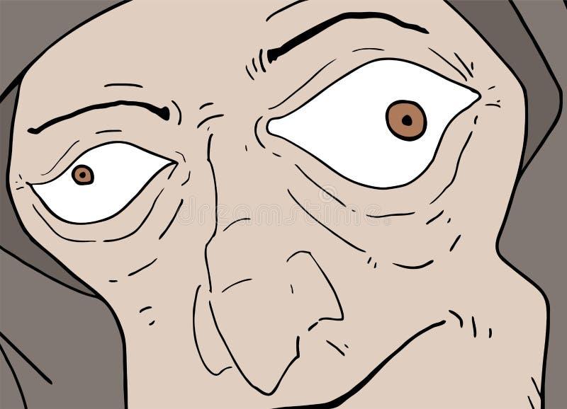 Άσχημη druid απεικόνιση διανυσματική απεικόνιση