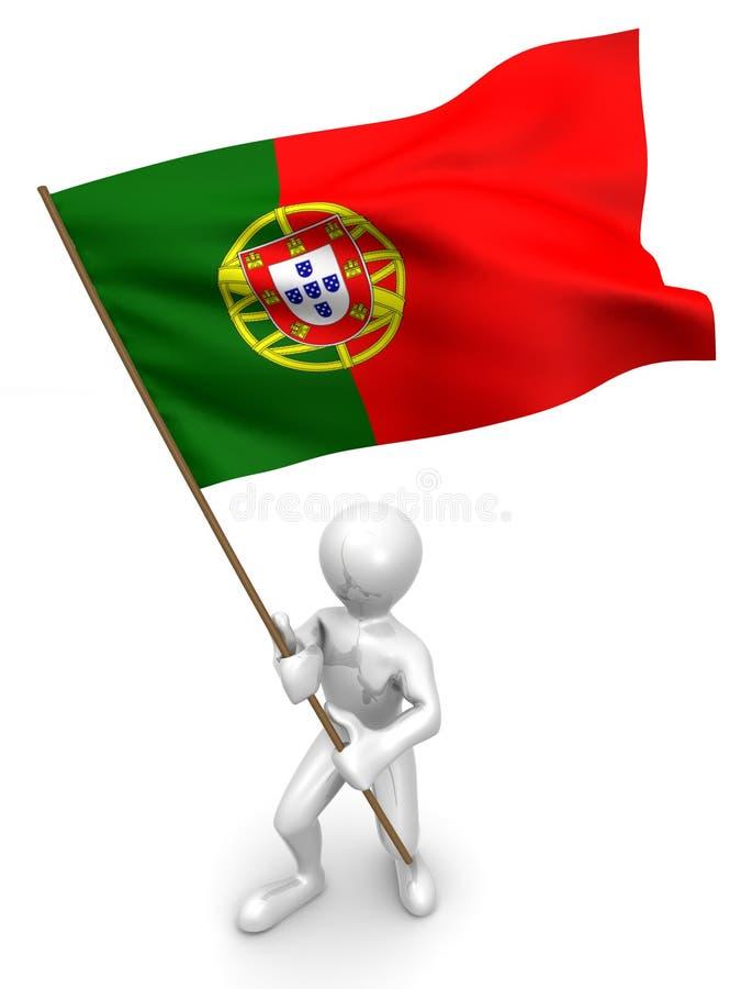άτομα Πορτογαλία σημαιών ελεύθερη απεικόνιση δικαιώματος