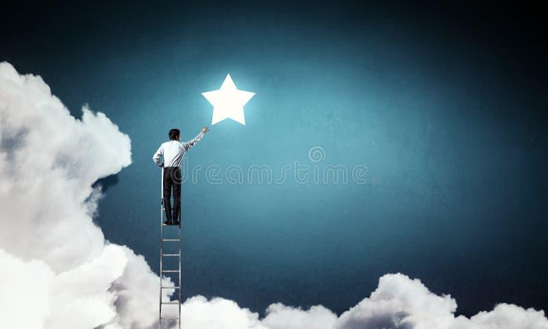 Άτομα που παίρνουν το αστέρι Μικτά μέσα στοκ φωτογραφία