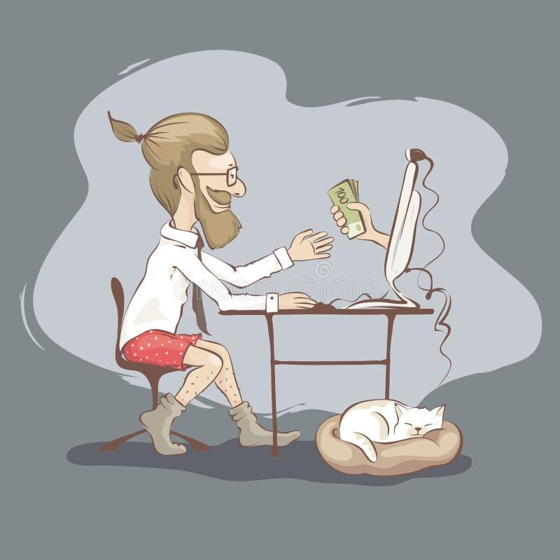 Άτομα freelancer διανυσματική απεικόνιση
